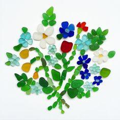 Sea glass bouquet !