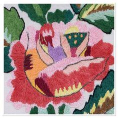 . The part of an embroidered floral design. Rushnik (rushnyk), Ukraine,1960. . #украина #ethnic  #вышивка  #Ukraine #Українa #рушник #design #Ukrainian #embroidery #handmade #вишивка #europe #европа #folk #folkart  #stitchart #stitching #embroideryart #handembroidery #flower