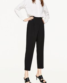 Image 2 of HIGH RISE TROUSERS WITH DARTS from Zara