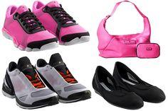 Tênis e bolsas da coleção Stella McCartney for Adidas.