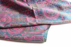 Indian silk shawl scarf with vibrant print by WestCoastWares, $24.00