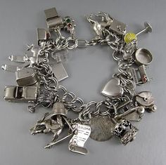 Vintage Charm Bracelet With 28 Charms | Fine Estate Sales