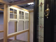 Check out the latest addition to the showroom. Casement window with astragal bars and sash horn detail.