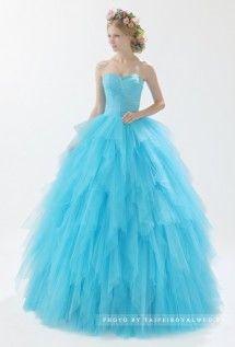 旋轉。愛 - BLUE DRESSES / FORMAL WEDDING - TaipeiRoyalWed.tw 台北蘿亞結婚精品 天空藍禮服