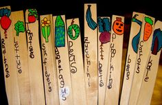 a roundup of garden markers that kids can make @The Crafty Crow