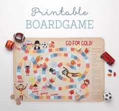 'Go For Gold' Free Printable Boardgame ~ Tinyme