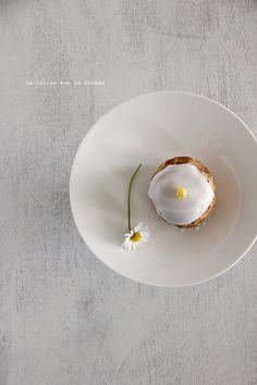 choux075 Petits choux (choux craquelins au lemon curd  petits choux glacés à la vanille)
