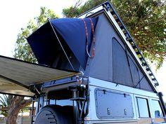 Alu-Cab | FLIP-ROOF CONVERSION : Grey Land Rover Defender