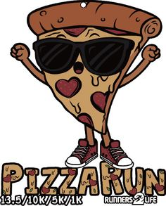 Valentines Day Run: Pizza Run 13.1/10k/5k/1k Remote-run & Extra Medals