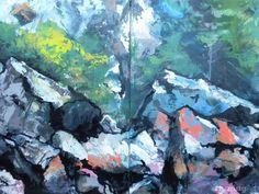 ROCKS ~ Rocks at Lopez Island (diptych )