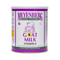 There is no denying the convenience of our Meyenberg Powdered Goat Milk. Made from Grade A Pasteurized goat milk, supplemented with Vitamin D and folic acid.Not only is goat milk. Happy Goat, Buy Milk, Milk Alternatives, Soy Products, Healthy Groceries, Folic Acid, Powdered Milk, Goat Milk, Drinking Tea