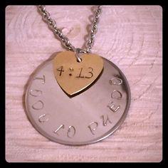 "Inspirational Charms Inspirational Charms Handstamped ""Todo lo puedo"" en Cristo que me fortalece. Filipenses 4:13. Stainless Steel 16"" necklace. Jewelry Necklaces"