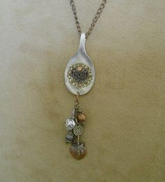 Spoon Necklace  - Steampunk Style Necklace made from an Antique Silver Spoon