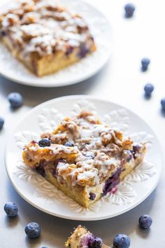 Overnight Blueberry Waffle Breakfast Bars