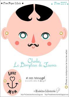Eudeline Mustard: Paper Mask: Charlie, the Beast Tamer! Carnival !
