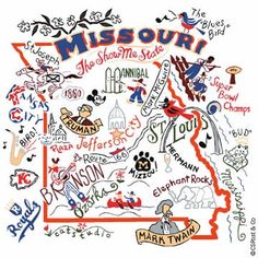State dish towels - Missouri