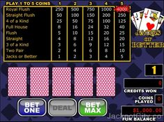 Free #games to play as much as you want: 103 #Video Poker >> jackpotcity.co/free-video-poker.aspx