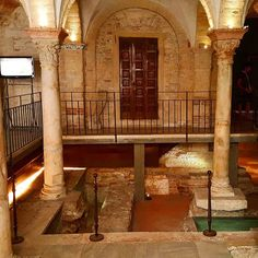 Discovering the #ruins of the Basiliche Paleocristiane founded under the Duomo of #Verona