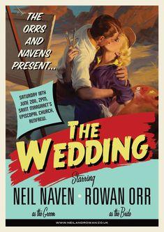 Vintage movie poster invitation.