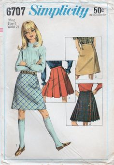 1960s Simplicity 6707 UNCUT Vintage Sewing by midvalecottage