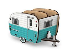 Park this retro-styled camper on your desk, toss in your pens and pencils, kick back and relax. Fred's all-season HAPPY CAMPER pencil holder comes flat- packed with simple instructions for quick and easy assembly. Made of durable MDF. Retro Campers, Rv Campers, Camper Trailers, Happy Campers, Vintage Campers, Retro Trailers, Pencil Holders For Desk, Vintage Rv, Vintage Travel Trailers