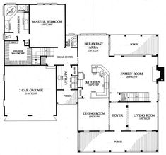 First Floor Plan of Colonial   Farmhouse  Southern   House Plan 86342