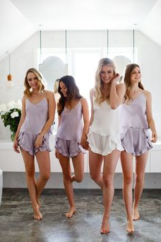 sexy bachelorette outfits for party 14 Bridesmaid Get Ready Outfit, Bridesmaid Getting Ready, Bridesmaid Robes, Bridesmaid Jewelry, Bridal Party Getting Ready, Bride Getting Ready, Ropa Interior Babydoll, Bachelorette Outfits, Fit Women