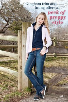 SmartPak Spring 2012 Look Book - Gingham trim and lining offers a peek of preppy style