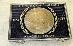 1965 SIR WINSTON CHURCHILL MEMORIAL CROWN COIN/IN PLASTIC CASE