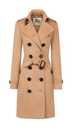 Burberry Sandringham Fit Cashmere Trench Coat, $2595; us.burberry.com