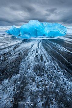 Rapid Change - Jokulsarlon Ice Beach - Iceland by LukeAustin LandScapes Photography #InfluentialLime