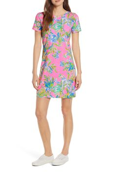 Women's Lilly Pulitzer Declan Floral Print T-Shirt Dress, Size Large - Pink Jeans Dress, Jacket Dress, Shirt Dress, Nordstrom Dresses, Custom Clothes, Lilly Pulitzer, Leggings Are Not Pants, Your Style, Casual Dresses