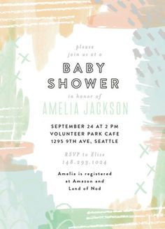Pattern Mix and Match by Alethea and Ruth. Customize this baby shower invitation with your colors Baby Shower Party Favors, Baby Shower Games, Baby Shower Parties, Baby Shower Decorations, Baby Shower Invitations, Baby Showers, Shower Tips, Shower Ideas, Dream Baby