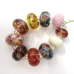 #599 Handmade lampwork glass beads by Sue Harris - Blue Box Studio - posts worldwide - www.blueboxstudio.co.uk