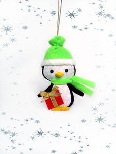 Penguin Christmas Ornament Tree Decorations Cute Little Penguin Handmade Felt Soft Toys Holidays Christmas Gift For Kids Creative Decor by BelkaUA on Etsy