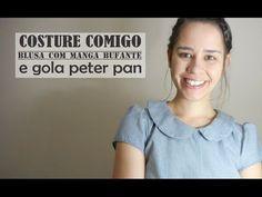 Como fazer blusa romântica com gola peter pan | Ellen Borges