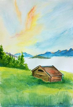 Cottage - watercolor
