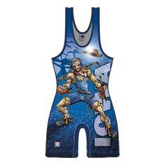 Worldwide Exclusive!!! Worldwide Exclusive Blue Iowa Scarecrow Wrestling Singlet