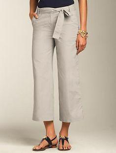 Cotton Oxford Crop Pants