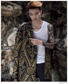 Tattoo Sleeves are in Vogue for Esquire Chinas Big Black Book image Esquire China Tattoos Fashion Editorial 005
