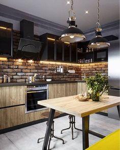 Stylish Home Decor, Cozy House, Interior Design Kitchen, Loft Design, House Interior, Loft Kitchen, Little Kitchen, Home Kitchens, Kitchen Design