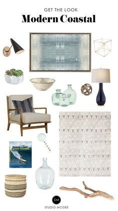 modern meets traditional coastal living room decor, neutral coastal living troom design, Get a Modern Coastal look - Studio McGee Modern Coastal Decor, Modern Coastal, Home Decor Bedroom, Beach House Decor, Home Decor, House Interior, Coastal Living Rooms, Coastal Bedrooms, Living Decor