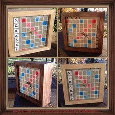 Scrabble Clock, Upcycled Gifts, Scrabble Board made into a clock