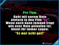 Auch wenn das Date nicht so toll war :) #Es #Film #Date #Lifehack #Trick17 #Humor