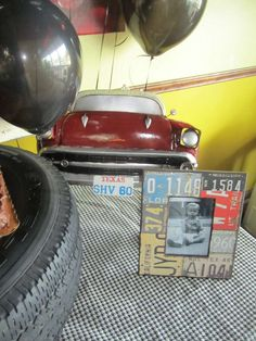 Vintage Retro Car Party Birthday Party Ideas Party centerpieces