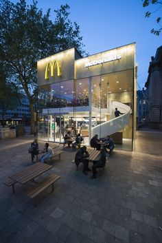 McDonalds Restaurant Rotterdam The Netherlands MEI - Camouflaged into its surroundings mcdonalds restaurant by mei architects