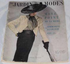 Le Jardin des Modes. April 1949. No.328 vintage french fashion magazine | eBay