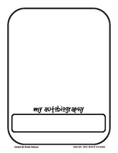 """This is an 8-page printable Ready-to-go Lesson.This is a great lesson that could be used as an introduction at the Beginning of the Year or as an introduction to a Biography and Autobiography Genre Study.I use this in my own classroom as a """"Getting to Know You"""" assignment and as a way to get a quick writing sample."""