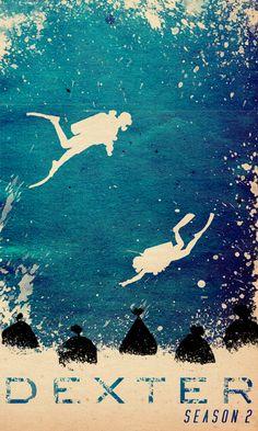 Minimal Movie Posters — DEXTER Season 2 by Travis English