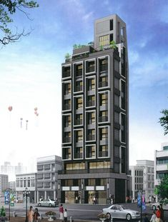Architecture Building Design, Condominium, Facade, Skyscraper, Buildings, Multi Story Building, Nice, Modern, House